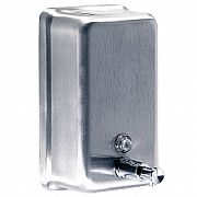 A-605---Quality-wall-Mount-Soap-Dispenser:-Stainless-Steel-satin